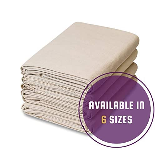 Image of Home Improvements 6 Piece Set - All Purpose Canvas Cotton Drop Cloth (9 feet x 12 feet)