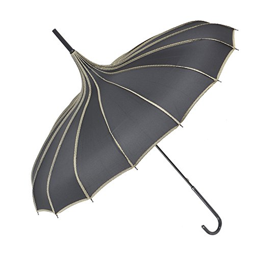 TopTie Pagoda Umbrella Wedding Parasol Bridal Umbrella Windproof - Victorian Umbrella