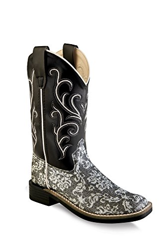 Old West Cowboy Clothing - Old West Girls' Western Boot Square Toe Charcoal Grey 11 D(M) US
