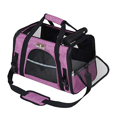 Pink Cat Carriers - HiCaptain Soft Side Pet Carrier with Top Mesh Window Perfect for Small Dog and Cat up to 10 lb (Pink)