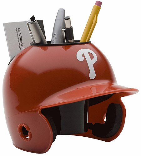 Schutt MLB Philadelphia Phillies Authentic Mini Batting Helmet Desk Caddy