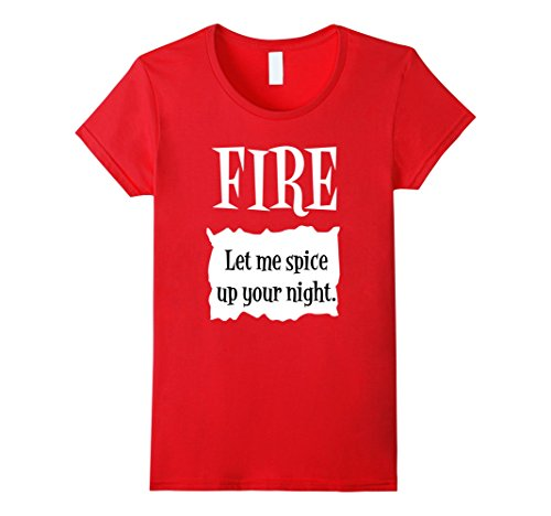 Work Appropriate Halloween Costumes For Women - Womens Fire Hot Sauce Packet Tee - Group Halloween Costume Shirts XL Red