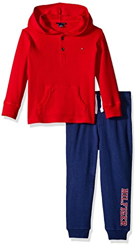 Tommy Hilfiger Thermal Hooded Set red