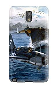 Galaxy Note 3 Case Cover - Slim Fit Tpu Protector Shock Absorbent Case (aircraft)