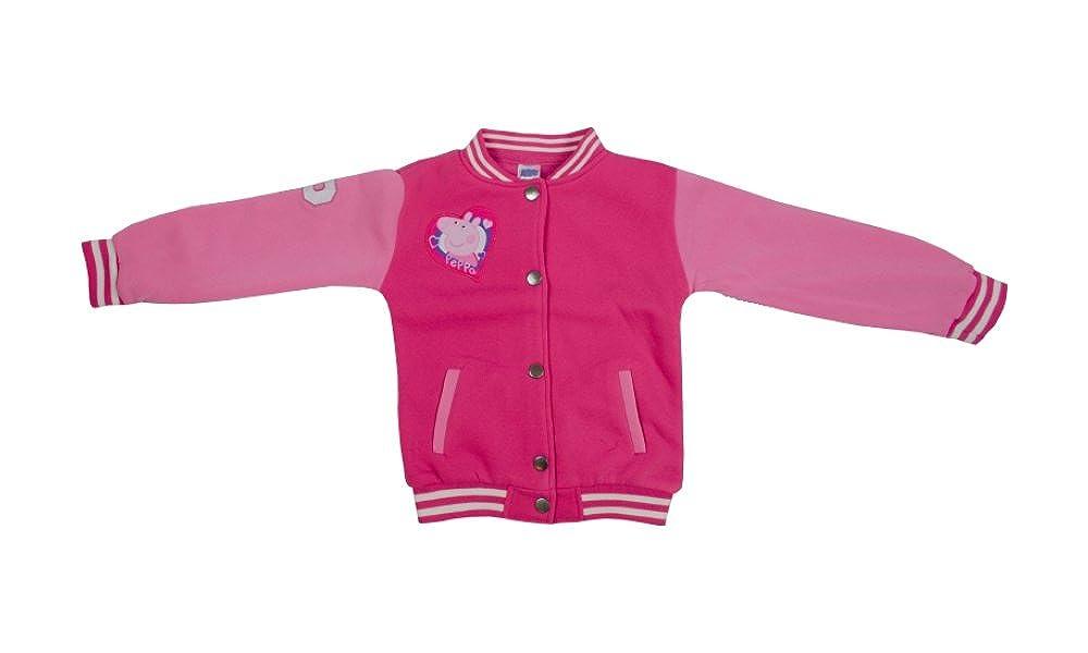 Character Peppa Pig Girls 1.5-7 Years 'Baseball Jacket' Jumper Clothing
