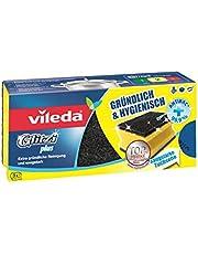 Vileda Glitzi Plus Topfreiniger, mit Antibac-Effekt gegen Bakterien, saugstark, 3er-Pack