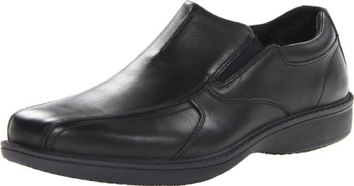 Clarks Mens Vadar Dubbla Slip-on Svart Läder