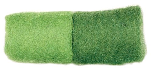 Dimensions Needlecrafts Feltworks Wool Roving, Spring Green - Spruce -