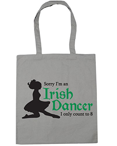 I'm Tote Beach Bag 10 to Grey Gym HippoWarehouse Dancer Irish Shopping x38cm I 42cm Sorry Eight Only Can Count litres Light an 5UqwPCnUB
