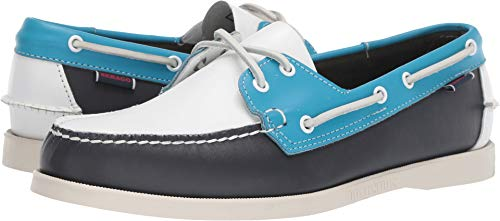 (Sebago Men's Dockside Portland Spinnaker Navy/Light Blue/White 10 M US)