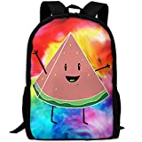 OIlXKV Cute Watermelon Print Custom Casual School Bag Backpack Multipurpose Travel Daypack For Adult