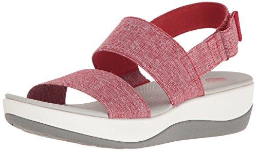 Clarks Kvinna Arla Jacory Wedge Sandal Röd