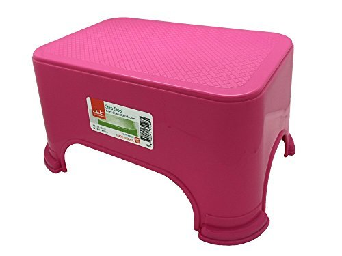 Click Home Design - Step Stool - Bright & Beautiful Collection #35528 - 11.5 x 7.3 x 6.5 inches (Pink) by Click Home Design