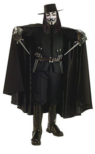 V For Vendetta Couples Costumes (Super Deluxe V for Vendetta Adult Costume - Standard)