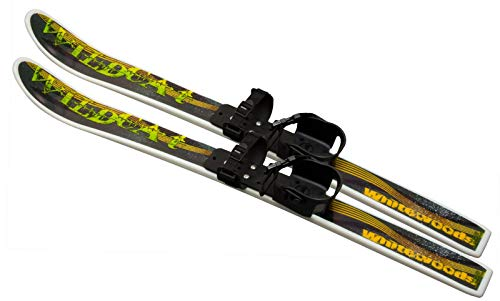 Whitewoods by Erik Sports, Wildcat 95cm Junior Cross Country Backyard Ski Set, Waxless Base, Ages 4-8 (Wildcat Ski)