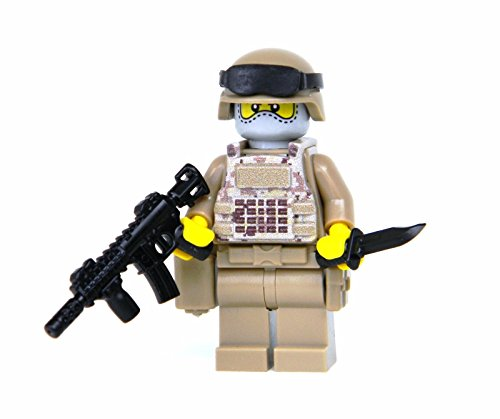 Camo Battle (US Army Digital Camouflage Soldier (SKU11)- Battle Brick Custom Minifigure)