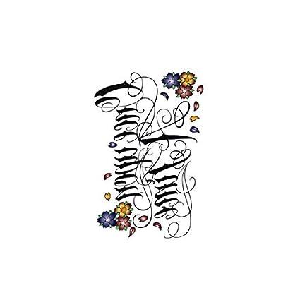 Etiqueta engomada del tatuaje temporal Mujer Patrón pequeño Fresco ...