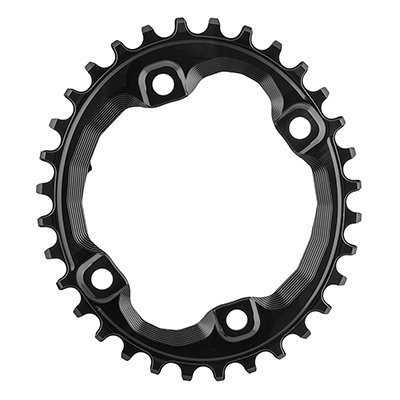 ABSOLUTE BLACK Shimano Oval Traction Chainring Black/96 BCD (M8000 XT), 32t