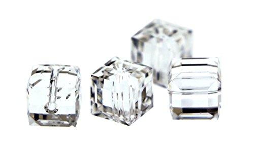Clear Swarovski Cube Crystal - 8mm Swarovski Crystal Cubes Clear S8CB01