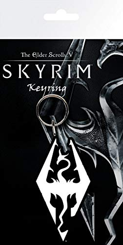 Skyrim - Dragon Symbol Llavero (15 x 7cm): Amazon.es: Hogar