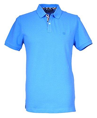 Aquascutum Herren Poloshirt Blau Sky