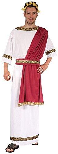 [Greek God Julius Caesar Male Fancy Dress Costume & Sash - One Size by Parties Unwrapped] (Male Greek God Costumes)