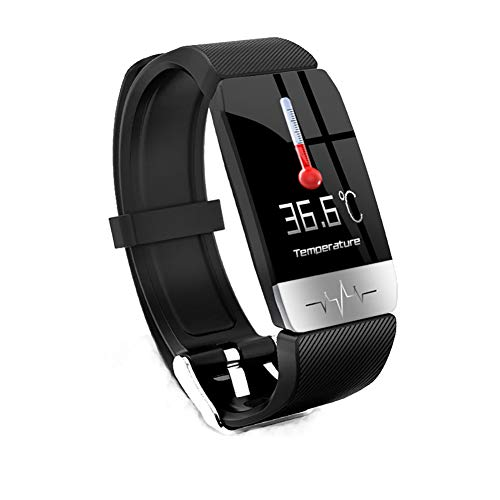 Smart Watch, Waterproof with Temperature Measurement Fitness Tracker Heart Rate/Blood Pressure Blood Oxygen Activity…