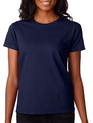 Gildan Ladies Ultra Cotton 100% Cotton T-Shirt, Navy, XL ()