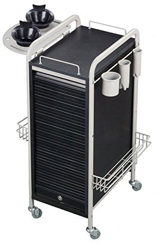Savvy SAV-505-GB Salon Lockable Roller Cart Trolley in Grey/Black + FREE Option Pkg. ($65 value) + Free Cape