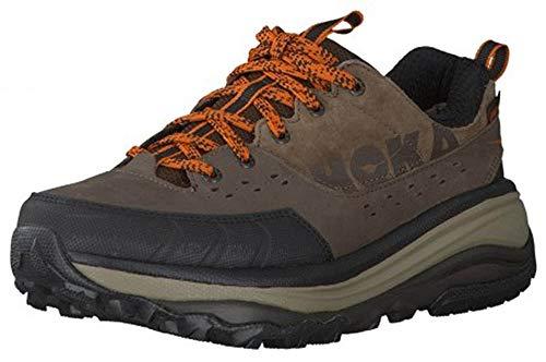 HOKA ONE ONE Mens Tor Summit Low Waterproof Brown/Burnt Orange Hiking Shoe - 9