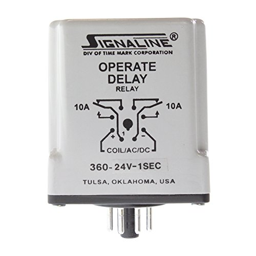 EC Solid State Second Delay Time Relay, 24-VAC, 10-Amp ()