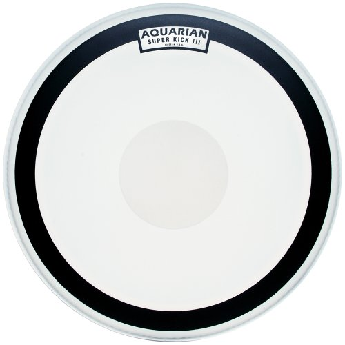 Coated 20 Bass Drum - Aquarian Drumheads SKIII20 Super-Kick III Single 20-inch Bass Drum Head, with Dot