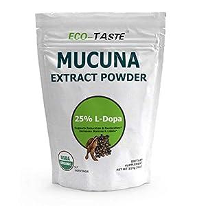 Gut Health Shop 41qeuroIh%2BL._SS300_ Organic Mucuna Pruriens Extract Powder, 25% L Dopa (Kapikachhu, Velvet Bean) for Relaxation, Mood and Brain Health, 114…