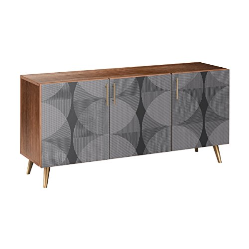 Nye Koncept 13005930 Smokescreen Flare Sideboard44; Walnut & Brass from Nye Koncept