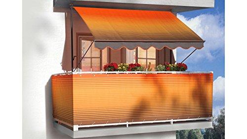 ANGERER FREIZEITMÖBEL Klemmmarkise, orange-braun, gestreift 200 cm