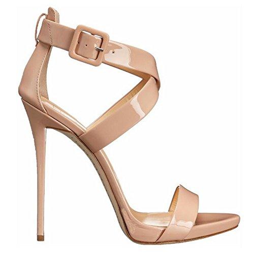f68d2b54 Buena SHINIK Zapatos de mujer de verano Nuevo Peep-toe con sandalias  femeninas de tacón