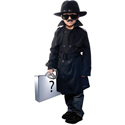 Jr. Secret Agent Child Costume - Small (Kids Secret Agent Costume)