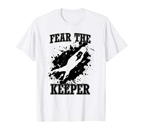 Soccer Ball Funny Quote Shirt for Goalie I Fear the Keerper - Soccer Quote T-shirt