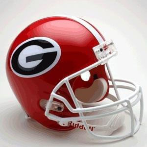 Sports Memorabilia Georgia Bulldogs Riddell Full Size Deluxe Replica Football Helmet - College Replica Helmets (Bulldogs Deluxe Replica Helmet)