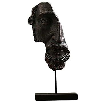Ornamentesd Europaischen Stil Retro Dekoration Harz Halfte Gesicht