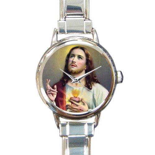 Catholic Christian Religious Church Gifts Jesus Christ Son Of God Round Italian Charm Watch ()