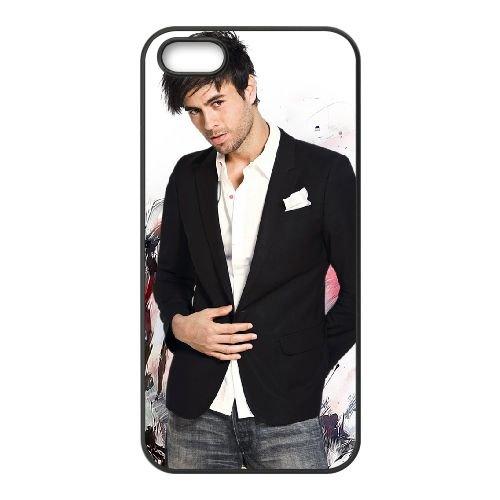Enrique Iglesias 004 coque iPhone 5 5S cellulaire cas coque de téléphone cas téléphone cellulaire noir couvercle EOKXLLNCD23567