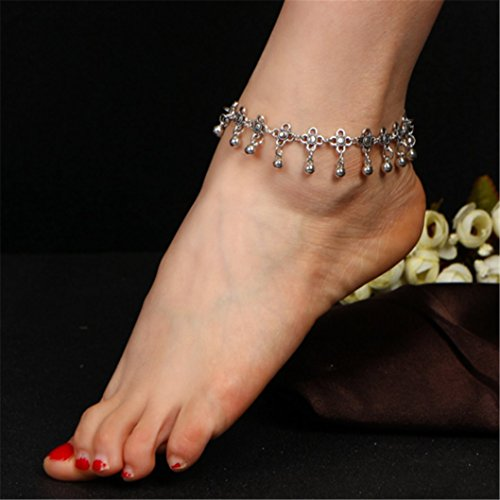 Simple Metal Drops Bracelet Fringe Hollow Carved Vintage Anklets