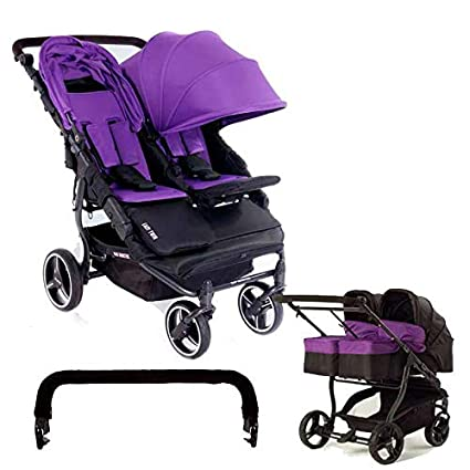 Baby Monsters-Silla Gemelar Easy Twin 3.0.S + 2 Capazos duros + Barra