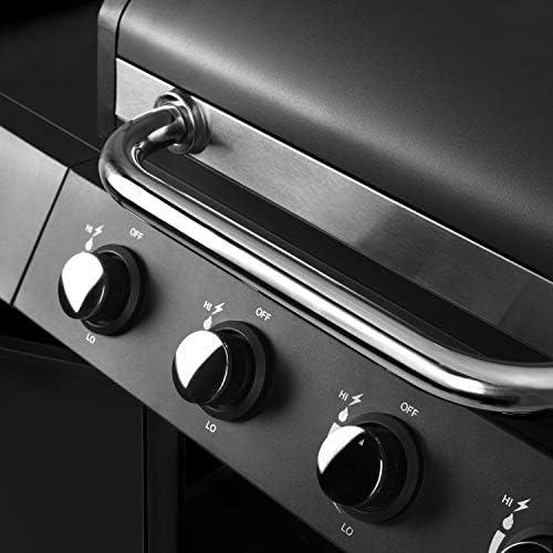 Ribelli Grill à Gaz Support Grill en Acier Inoxydable Chariot Grill avec 4 Brûleurs + 1 Brûleur Latéral