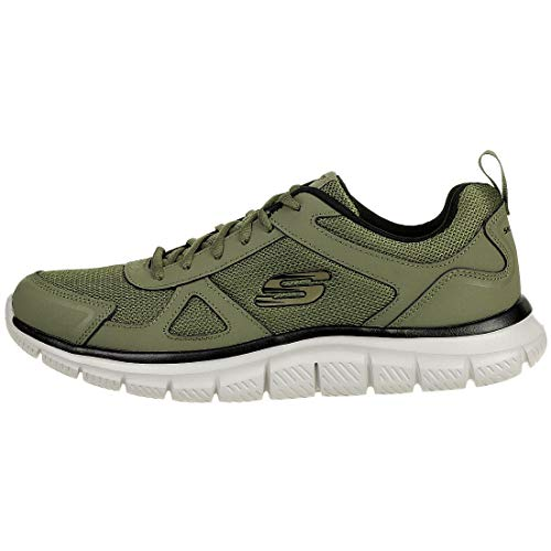 Scloric Men Track Olive Sneaker Skechers Trainers Black 52631 pE56qnUOc