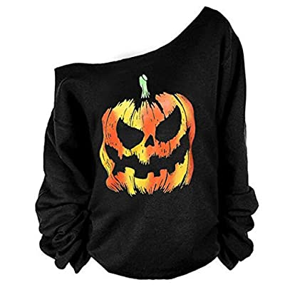 MAGICMK Woman's Sweatershirt Lips Print Causal Blouse Off The Shoulder Long Sleeve Loose Slouchy Pullover Plus Size Tops at Women's Clothing store