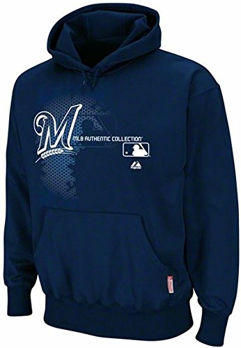separation shoes 96b98 cae0b Majestic Milwaukee Brewers Authentic On Field Performance Hoodie Big Sizes