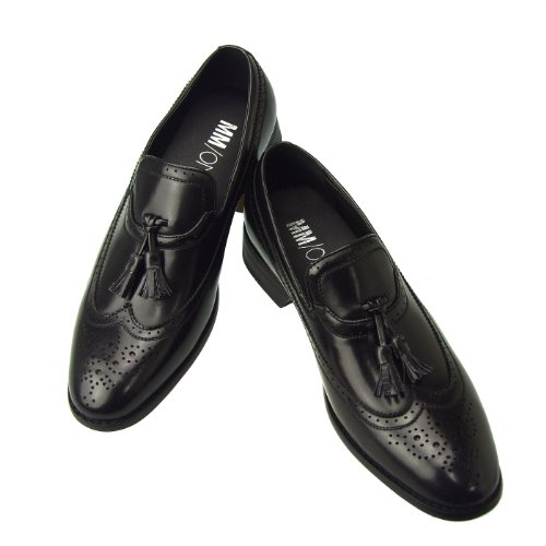 Enamel On Slip 8990 Black Collection Gore Medallion Shoes Mens Side Loafer ONE MM w1xqpFOza