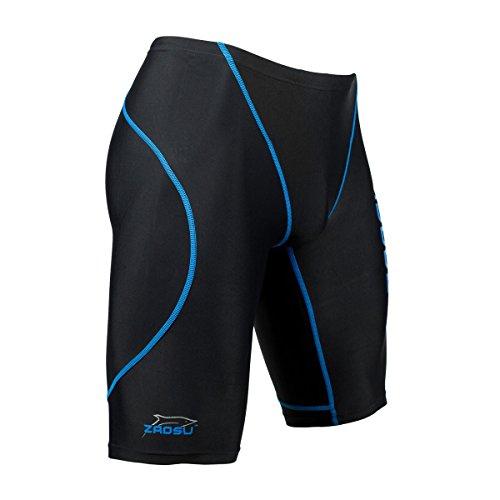 ZAOSU Wettkampf-Schwimmhose Z-Black - Badehose Herren, Farbe:schwarz/blau;Größe:164